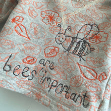 Load image into Gallery viewer, Slow Stitch - 'Bees are Important' sweatshirt