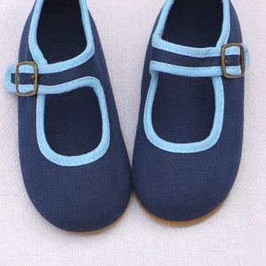 Mary Jane Shoes - Navy