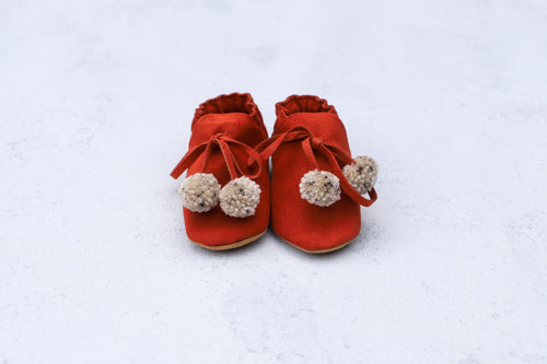 Baby Shoes - Brick