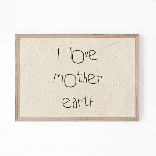 A5 print - I love mother earth