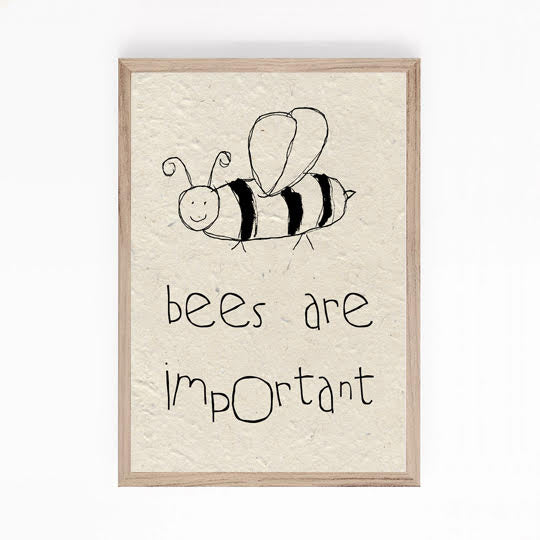 A5 print - Bees are important