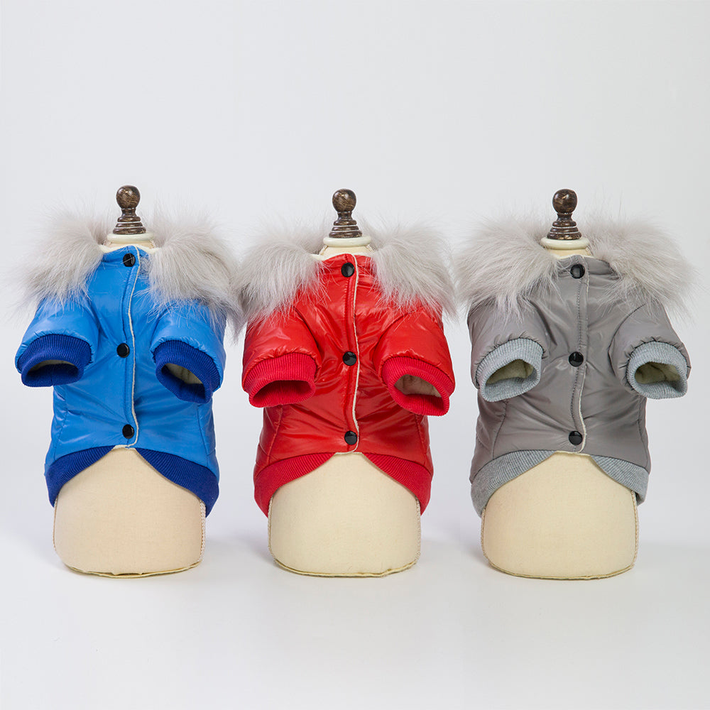 Stylish Winter Warm Soft Fur Waterproof Dogs Coat