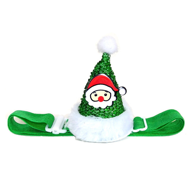 Best Dog Christmas Hat Shiny Christmas Headband