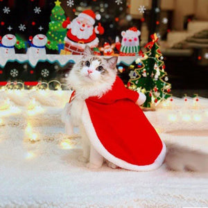 Best Cat Adjustable Christmas Red Santa Cloak