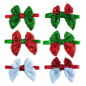 30Pcs Christmas Dog Shining Ties Neckties Accessories