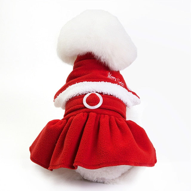 Best New Year Christmas Red Santa Claus Dog Costume