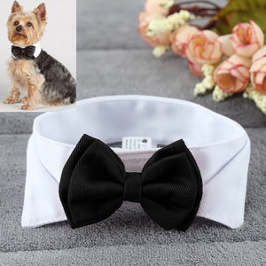 Dog Stylish Adjustable Bow knot Necktie Collar Party Clothes