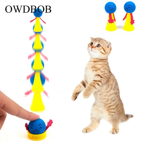 Lovely Funny Jumping Cat Toy
