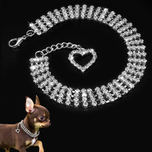Bling Rhinestones Necklace Dog Collar