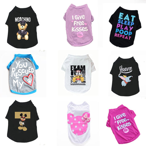 Best Dog Summer Vest Printed Shirt