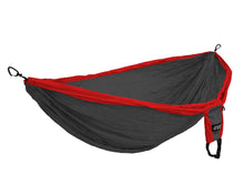 Load image into Gallery viewer, DoubleDeluxe Hammock-Red | Charcoal