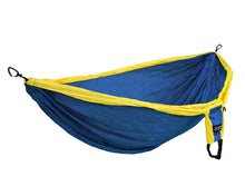 Load image into Gallery viewer, DoubleDeluxe Hammock-Sapphire | Yellow