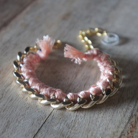 "Bracelet ""Mehiti"" Peach Light"