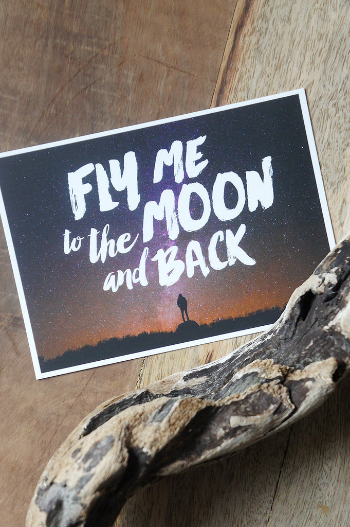"Carte Postale ""Fly Me to the Moon and Back"""