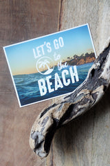 "Carte Postale ""Let's go to the Beach"""