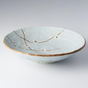 Blue Blossom Shallow Open Bowl 24cm CURATED BY EYEDS STUDI❍ GALLERY