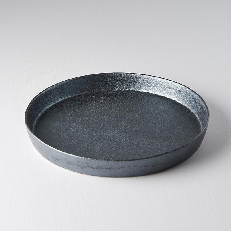 Craft Black Plate with High Rim 25cm