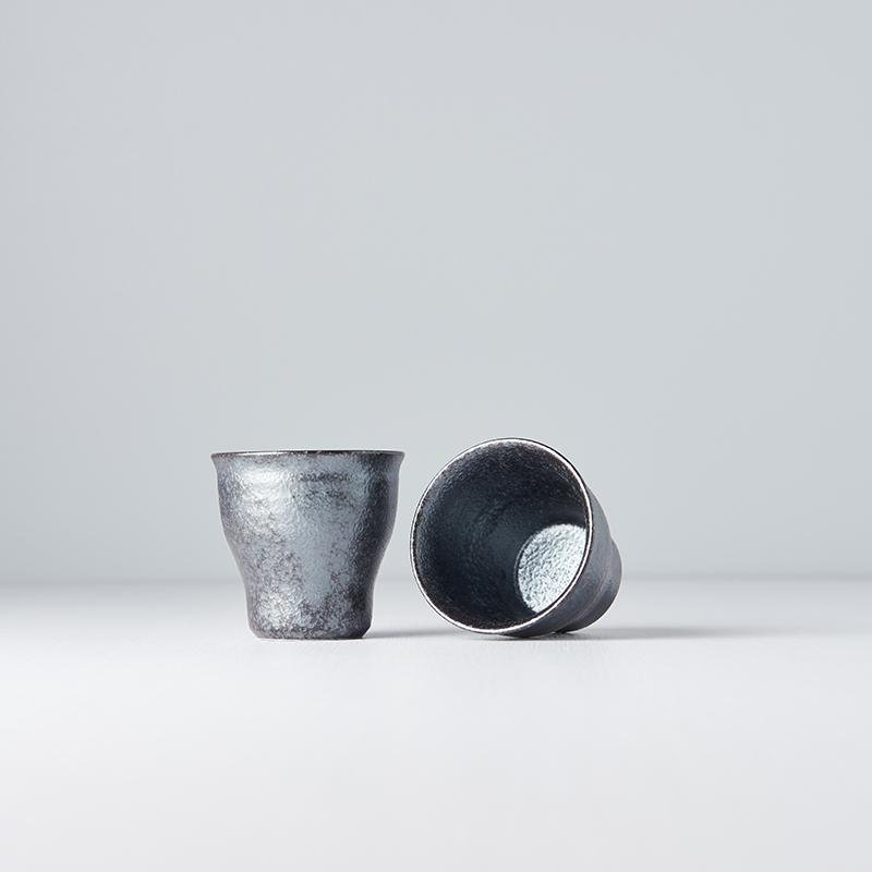 Teacup Fluted Shape with Narrow Base Craft Black 6.5cm · €8 · Home & Garden > Kitchen & Dining > Tableware > Drinkware > Coffee & Tea Cups · CURATED BY EYEDS | eyeds.se