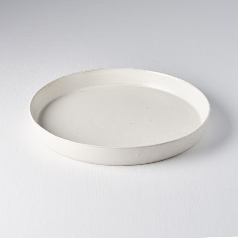 Craft White Plate with High Rim 25cm
