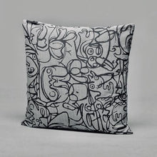 Load image into Gallery viewer, Cushion · Herringbone Edition · Artwork by Asger Jorn · Colour 3 Front