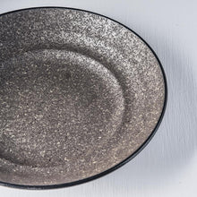 Load image into Gallery viewer, Earth Black Flat Base Serving Bowl 29cm