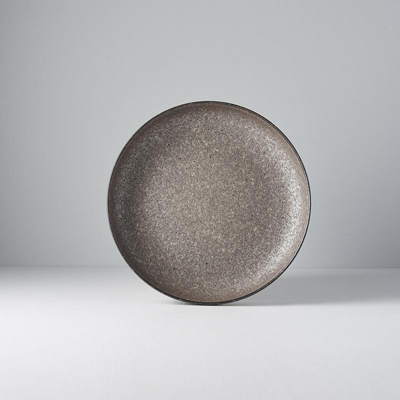 Earth Plate with High Rim 22cm