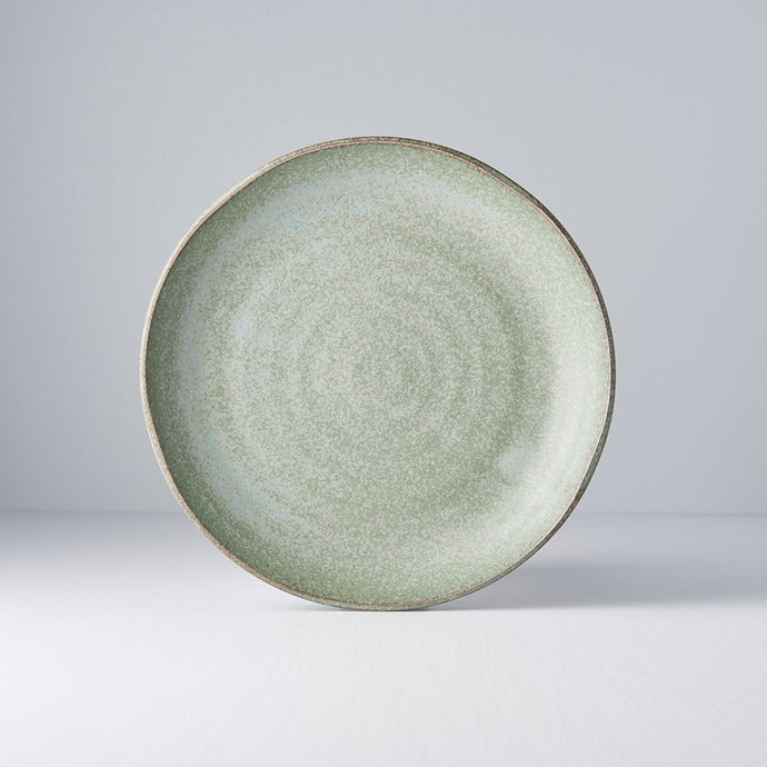 Green Fade Plate Uneven 24.5cm
