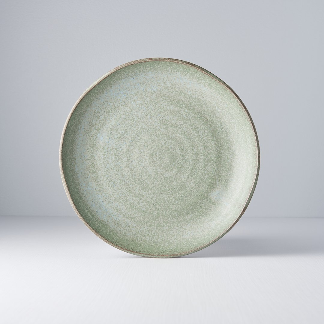 Uneven Plate in Green Fade 24.5cm · €21 · Home & Garden > Kitchen & Dining > Tableware > Dinnerware > Plates · CURATED BY EYEDS | eyeds.se