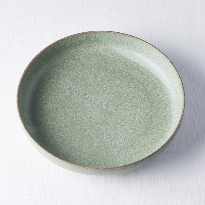 Green Fade Plate with High Rim 20cm
