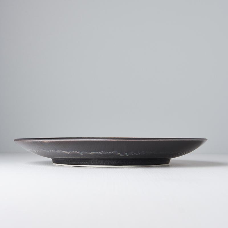 Large Plate Matt Black 29cm, €30, CURATED BY EYEDS
