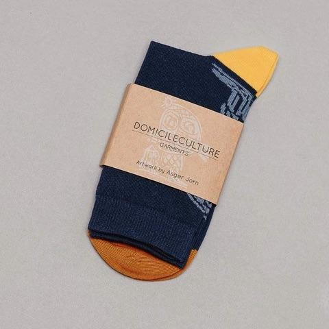 Navy Blue Socks · Linocut Artwork Edition