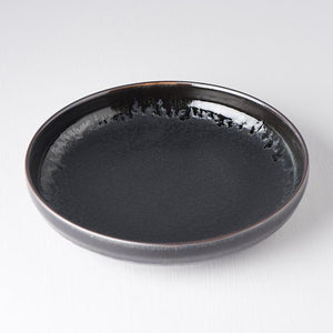 Plate with High Rim Matt 22cm