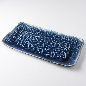 Rectangular Platter with Large Textured Ink Drops 35cm