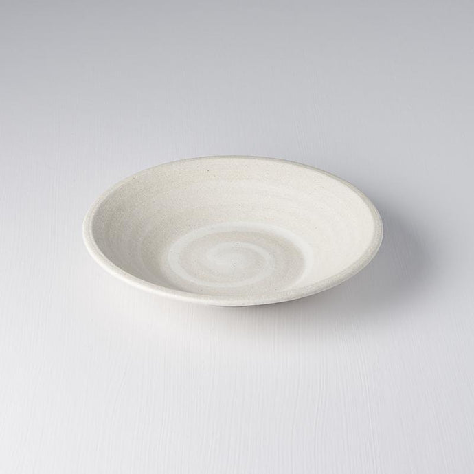 Shallow Bowl in Recycled White Sand 23cm · €19 · Home & Garden > Kitchen & Dining > Tableware > Dinnerware > Bowls · CURATED BY EYEDS | eyeds.se