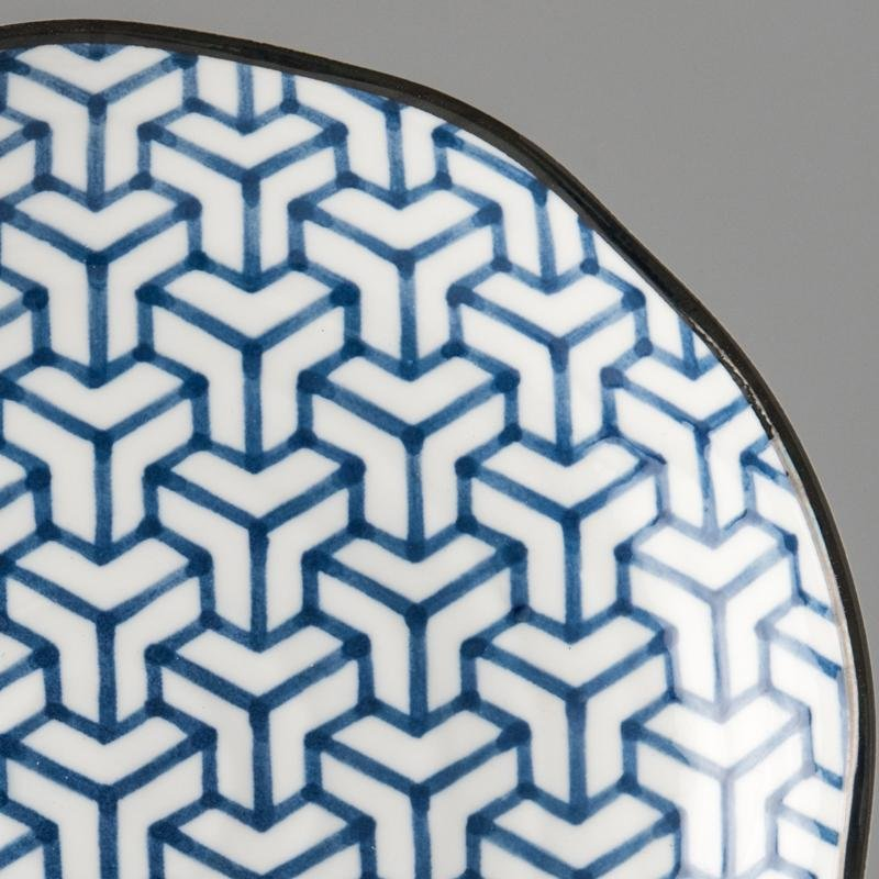 Round Plate Herringbone 23cm, €17, CURATED BY EYEDS