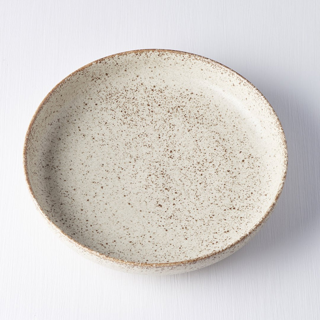 Sand Fade Plate with High Rim 20cm