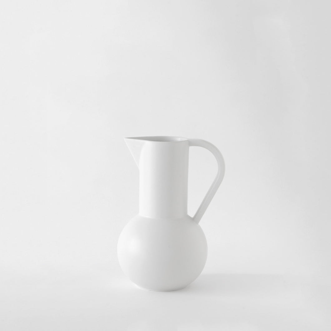 Small Jug「Strøm」Earthenware by Raawii · €62.5 · Home & Garden > Kitchen & Dining > Tableware > Serveware > Serving Pitchers & Carafes · RAAWII · CURATED BY EYEDS | eyeds.se