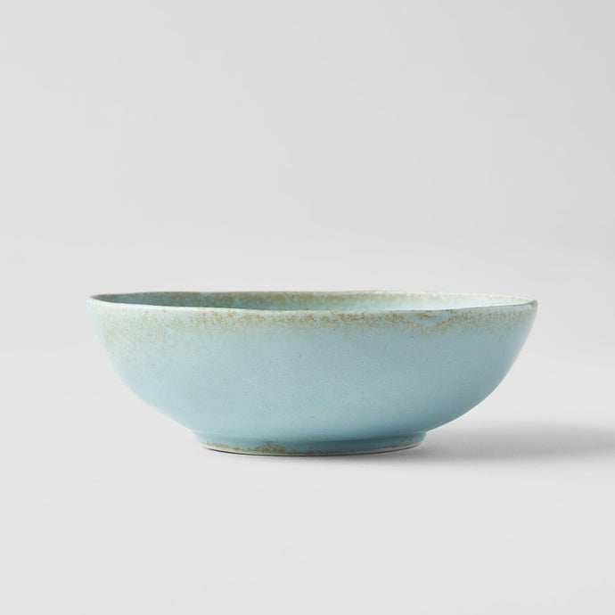 Soda Blue Open Oval Bowl 14cm