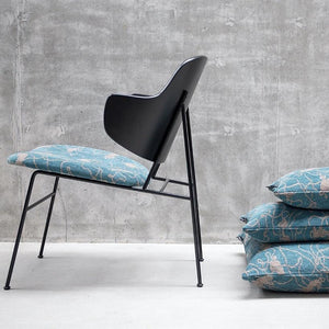 Teal Cushion「Social Pattern」Artwork by Michael Kvium · €250 · Home & Garden > Decor > Chair & Sofa Cushions · KVIUM · CURATED BY DOMICILECULTURE | eyeds.se