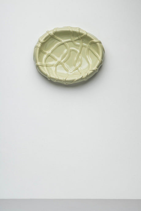 「The Absurd Made Flesh」Centrepiece platter in Pale Green · by Michael Kvium