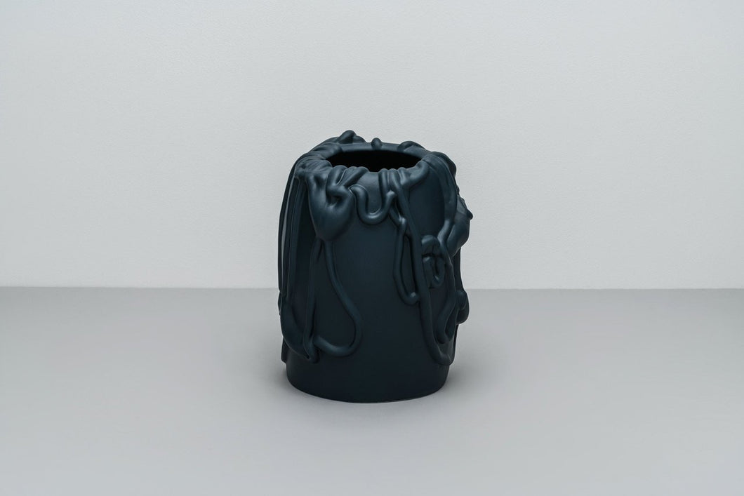 「The Absurd Made Flesh」Vase in Moonlit Ocean · by Michael Kvium