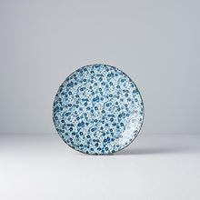Load image into Gallery viewer, Uneven Blue Daisy Side Plate 19cm