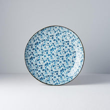 Load image into Gallery viewer, Uneven Large Blue Daisy Plate 23cm