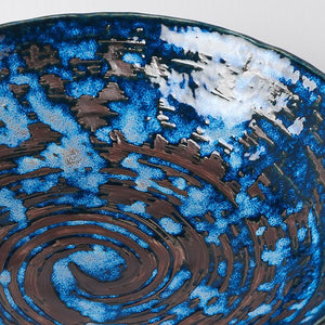 Uneven Large Copper Swirl Bowl 24cm