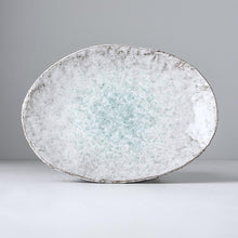 Load image into Gallery viewer, Uneven Oval Plate Aqua Splash 24cm