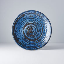 Load image into Gallery viewer, Uneven Round Plate Copper Swirl 25cm