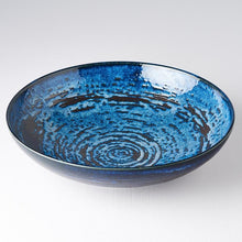 Load image into Gallery viewer, Uneven Serving Bowl Copper Swirl 28cm