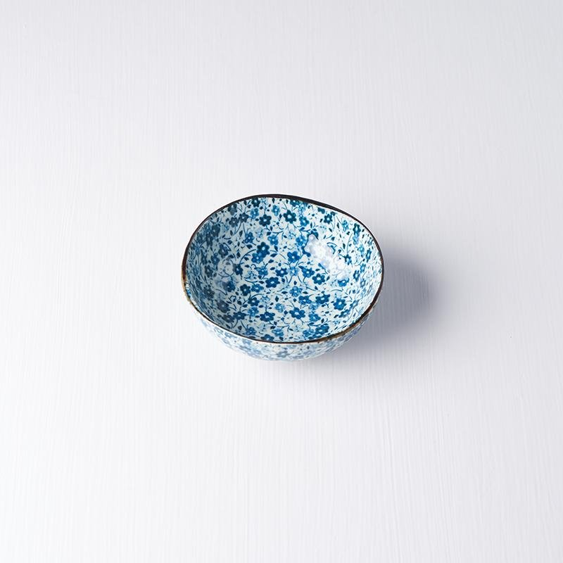Uneven Small Blue Daisy Bowl 11cm
