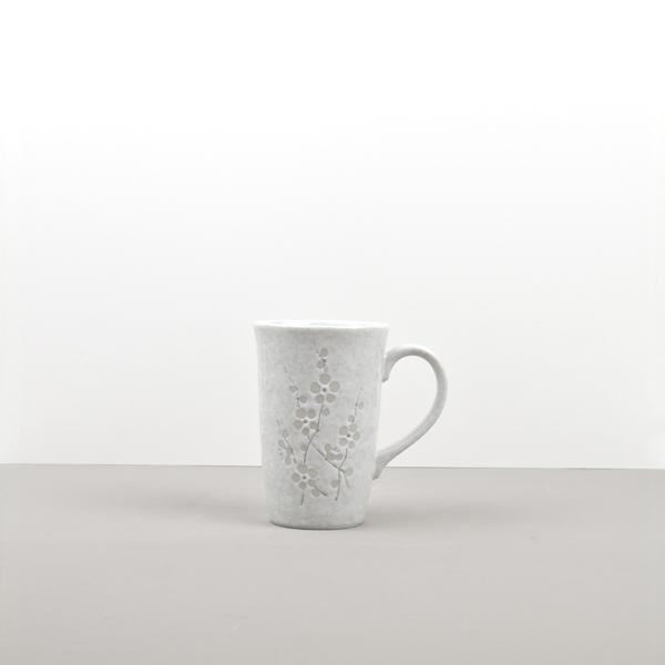 White Blossom Mug with Flower pattern