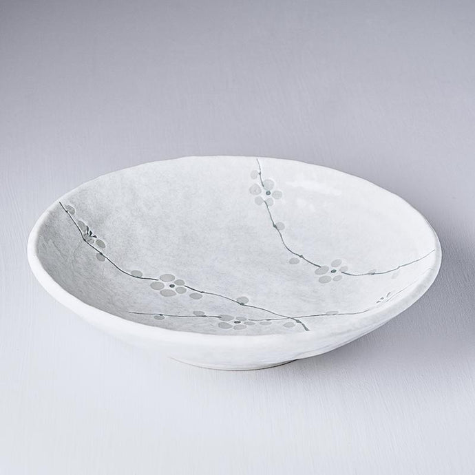 White Blossom Shallow Open Bowl 24cm · €19 · Home & Garden > Kitchen & Dining > Tableware > Dinnerware > Bowls · CURATED BY EYEDS | eyeds.se